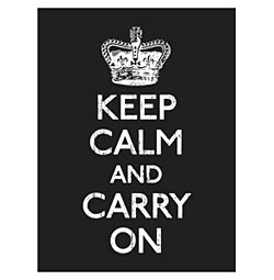 PK-C-17873 Set of 8 Note Cards KEEP CALM AND CARRY ON Primitives by Kathy